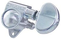 Grover 102C Rotomatic 3 per Side Machine Heads, Chrome