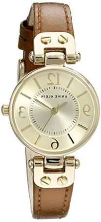Anne Klein Women's 109442CHHY Gold-Tone Champagne Dial and