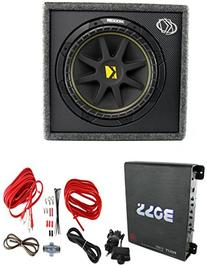 "New KICKER 10VC124 12"" 300W Car Audio Subwoofer +Sub Box +"