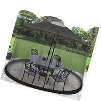 11′ UMBRELLA TABLE SCREEN -BLK