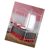 Hillsdale Furniture 11180BTWP Emily Bed Set with Canopy,