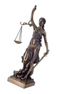 12.5 Inch Cold Cast Bronzed Lady Justice with Scales and