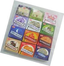 12 Assorted Boxes of HEM Incense Cones, Best Sellers Set #2