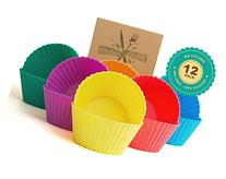 12 Pack of Reusable Silicone Baking Cups / Cupcake Liners