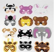 Rhode Island Novelty 12 Assorted Foam Animal Masks for