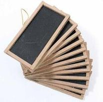 "12 Mini Chalkboards 2""X4""- For Wedding Place Cards Party"
