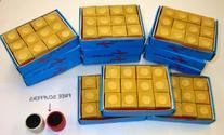 12 Dozen Mustard Chalk 144 Pcs Pool Billiard Cue Qtip Table