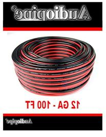 Audiopipe 12 GA Gauge Red Black Stranded 2 Conductor Speaker