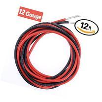 Hilitchi 12 Gauge 12Feet Silicone Wire High Temperature
