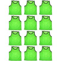 BlueDot Trading 12 green adult sports pinnies-12 scrimmage