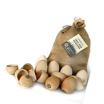 12 XL Hollow Wooden Easter Eggs by EggTree.Farm, No Plastic
