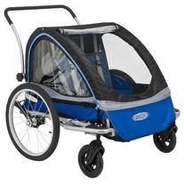 InSTEP 12-MK555 Rocket Deluxe Double Bicycle Trailer in Blue