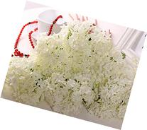 FatColo Mini Artificial Silk Flower Bouquet, White