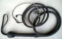12 Foot 12 Plait BLACK Bullwhip Real Leather BULLWHIP BULL