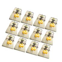 12 Snap Spring Wooden Mouse Traps Rodent Control Rat Mice