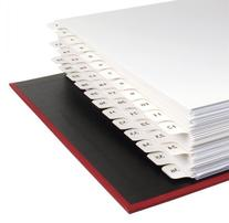 11x17 12 Tabbed Dividers, Numbered 1 to 36 with no holes,
