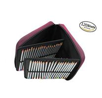Miraclekoo 120 Slots Handy Deluxe Colored Pencil Case