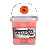 Franklin Sports NHL Street Hockey Ball Buckets , Orange, 2 5