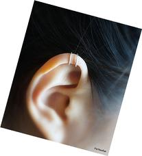 123) Tiny Double Lines Ear Cuff For Upper Cartilage