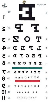 Grafco 1240 Snellen Hanging Eye Chart, 20' Distance, Non-