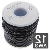 12AWG Automotive Primary Wire 25' - 19x25 Strand - Black