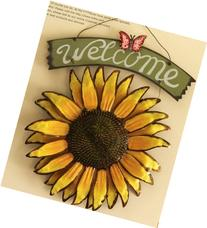 Bonlting 12x15 Vintage Hanging Butterfly Sunflower Welcome