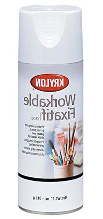 Krylon K01306 Workable Fixatif Spray Clear, 11-Ounce Aerosol