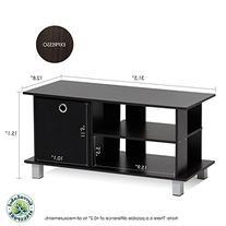 Furinno 13239EX/BK Simplistic TV Entertainment Center with