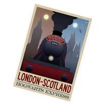 London- Scotland Hogwarts Express Retro Travel Poster 13 x