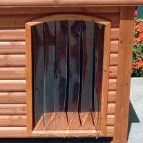 Precision Pet 14.5 by 9.8-Inch Outback Dog House Door, Small