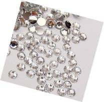 DGI MART 1440pcs 3mm 14 Cut Flat Back Rhinestone Round