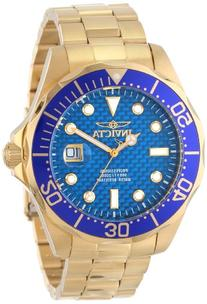 "Invicta Men's 14357 ""Pro Diver"" 18k Gold Ion-Plated Watch"