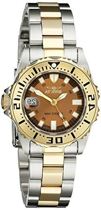 Invicta Women's 14372 Pro Diver Brown Dial Two Tone