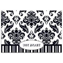 Masterpiece Studios 145341 Black Damask Thank You Note Cards