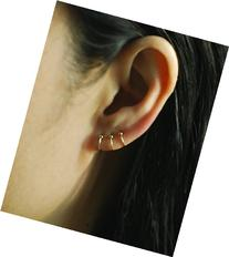 14k Yellow GOLD FILLED Cartilage hoop with Ball,22Gauge,Tiny