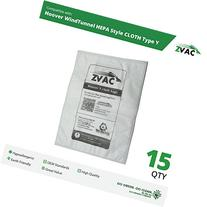 15 Hoover WindTunnel HEPA Style CLOTH Type Y Vacuum Bags -