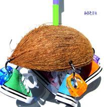 Bonka Bird Toys 1504 Coco Sneaker Bird Toy Parrot Cage Toys