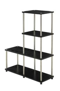 "Convenience Concepts 151077 Designs2Go Multi ""L"" Bookshelf,"