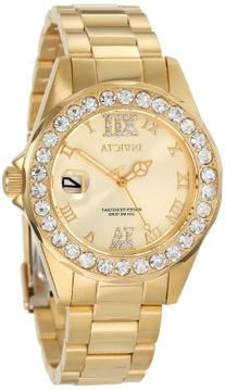 Invicta Women's 15252 Pro Diver Gold Dial Gold-Plated