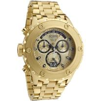 Invicta Men's 1568 Reserve Chronograph Gold Dial 18k Gold
