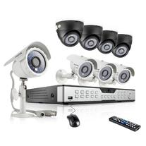16CH H.264 DVR Security System with 8 600TVL Indoor Outdoor