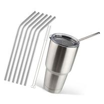 Accmor 18/8 Stainless Steel Straws, FDA-approved Reusable 10