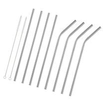 Accmor 18/8 Stainless Steel Straws, Reusable Metal Drinking