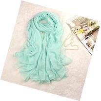 Museya 180*150cm Womens Long Soft Silk Scarf Shawl Stole