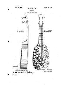 1928 Kamaka D74178 UKULELE Patent 2