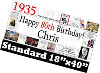 1935 PERSONALIZED BANNER