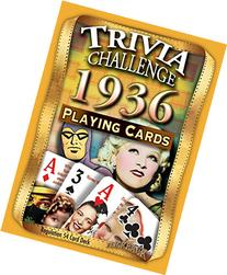 1936 Trivia Playing Cards 81st Birthday or 81st Anniversary