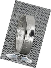 1940-1949 Silver Quarter Coin Ring Made by Hand Washington