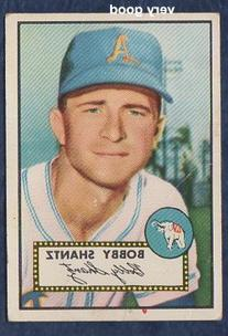1952 Topps Regular  Card# 219 Bobby Shantz of the