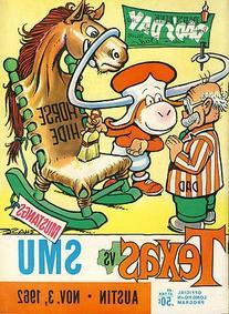1962 Texas Longhorns v SMU Program Chase